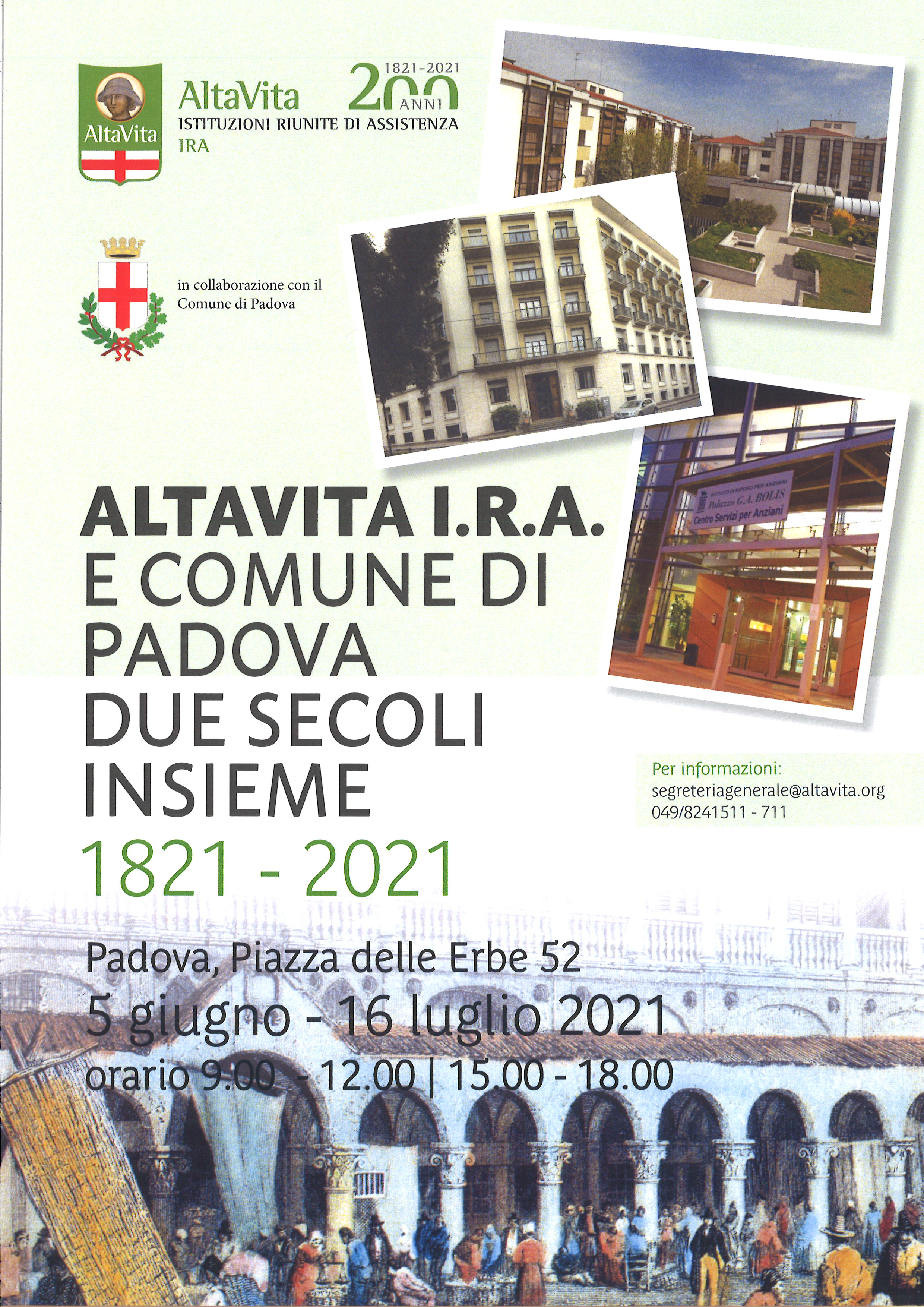 AltaVita-IRA e Comune di Padova – due secoli assieme