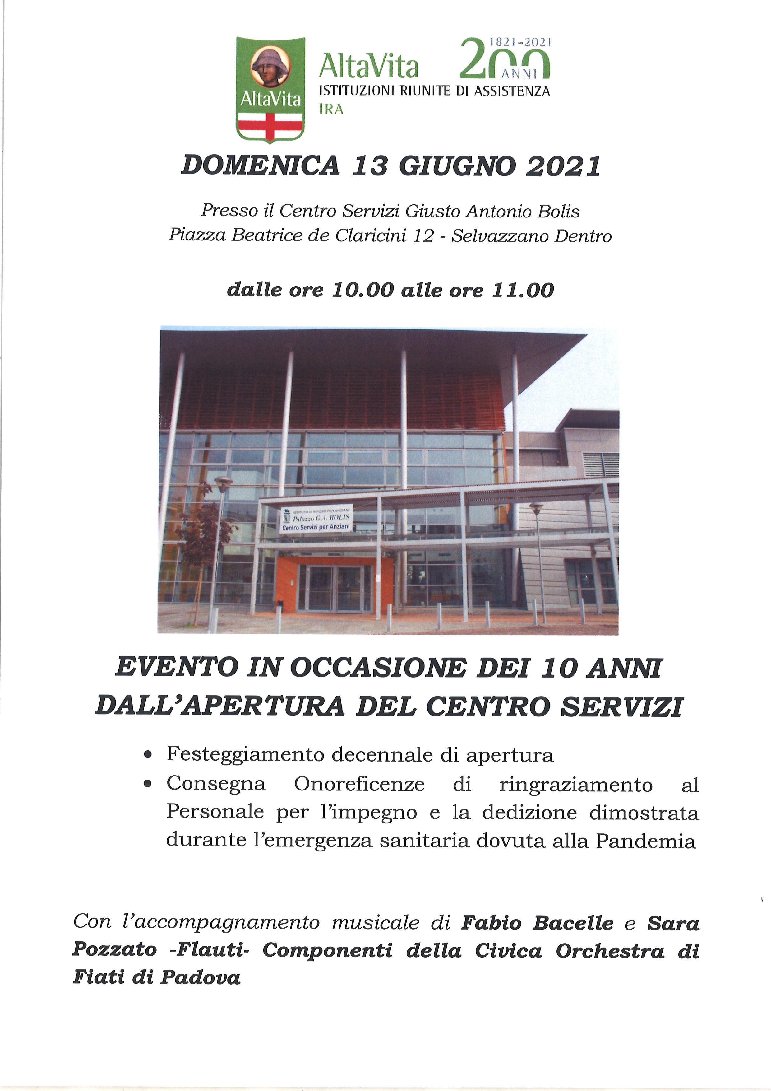 2011 – 2021: DIECI anni dall'apertura del Centro Servizi Bolis